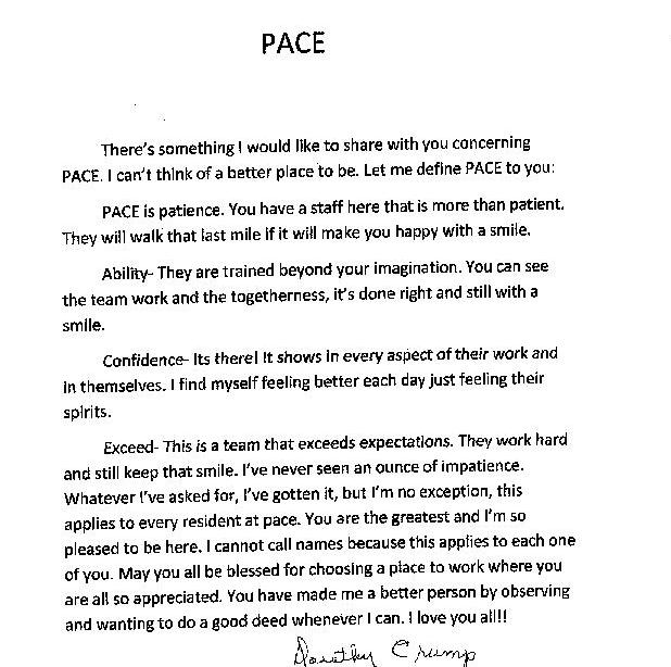 Letter to editor from a PACE participant – Piedmont Health